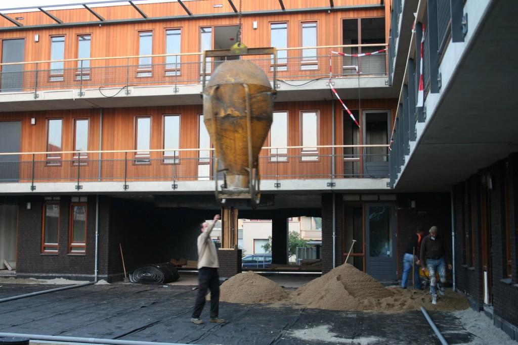 aanleg bodem daktuin appartementencomplex techniek
