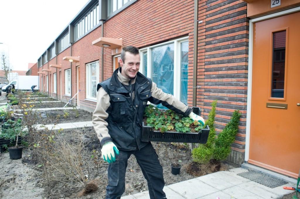 aanleg sociaal woningbouwplan samenwerking buurtbewoners betrokken aanplant keuze
