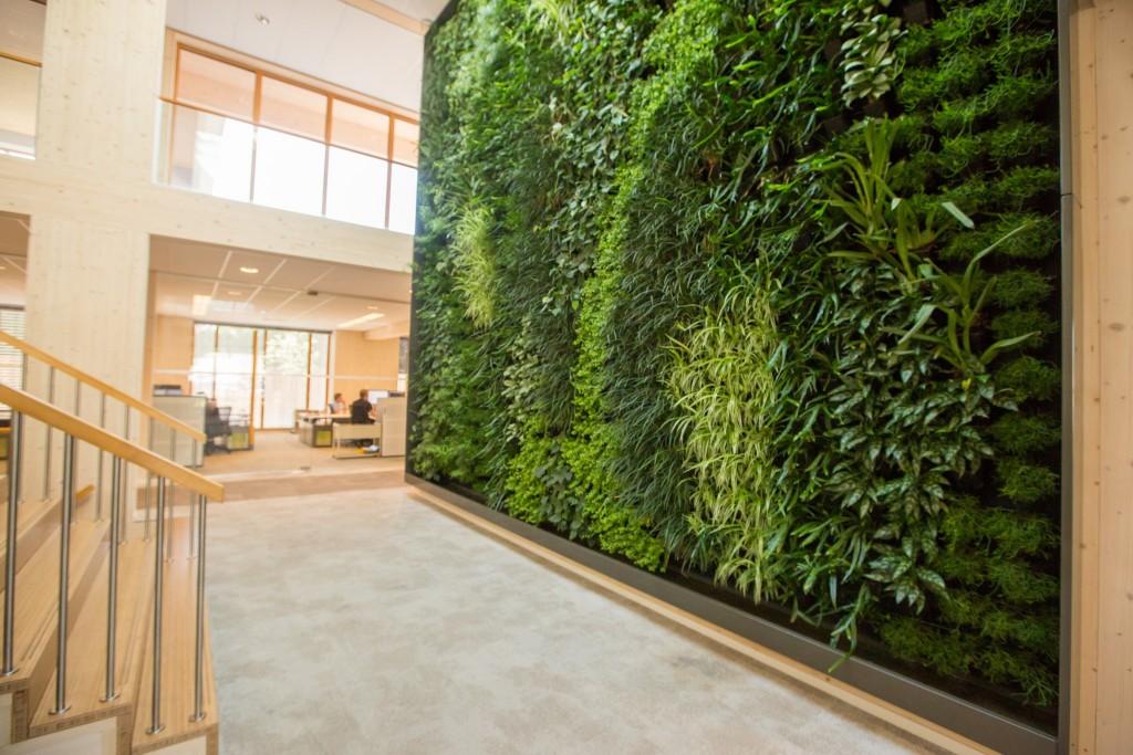 Verticale Tuin Binnen : Verticale tuin meest duurzame kantoor van nederland: geelen