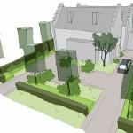 ontwerp landelijke tuin bij villa