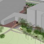 ontwerp buitenruimte bij appartementencomplex